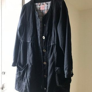 黒 薄手のコート L L