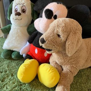 ワンワン ミッキー IKEAの犬 ぬいぐるみ 人形 3つセット