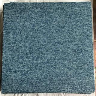 [商談中]タイルカーペット ブルー 12枚