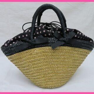 美品 ROPE ロペ 巾着カゴバッグ 春夏に最適!素敵なバッグ