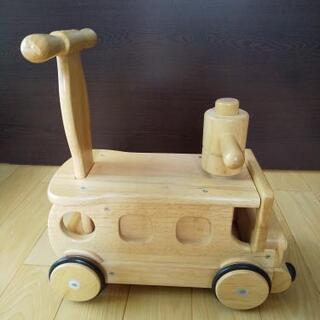 木's乗用ブーブー 押し車 足けり乗用玩具 木製