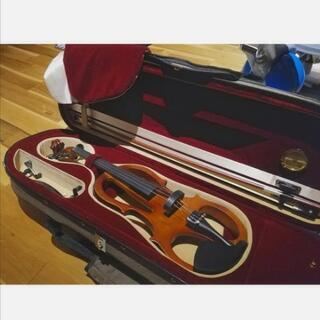 【バイオリン(お家で練習できる消音タイプ)】4/4サイズ(ショル...