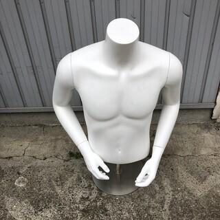 メンズ 男性 紳士 マネキン 半身 トルソー ボディ 樹脂製 高...