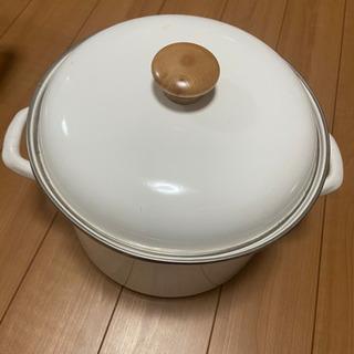 ホーロー鍋 ホワイト