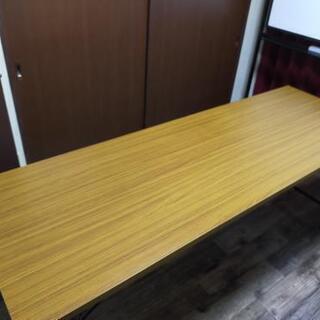 長机 テーブル 折りたたみ机 180×60×70 茶色中古品1つ