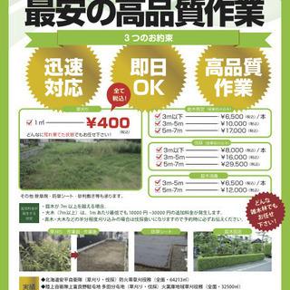 【草刈り/㎡ 400円!!処分費用込】
