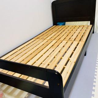 ※お譲り確定 シングルベッドフレーム マットレスもあるので必要な...