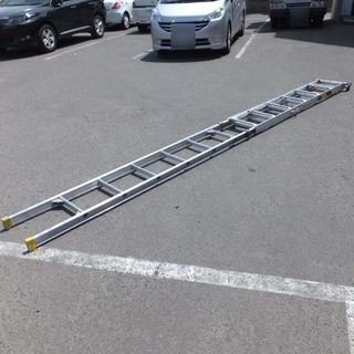 はしご 三連折畳伸縮はしご トリオ 60型 6168mm …