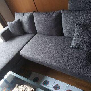 新品未使用未開封のソファー(オットマン、クッション付き)