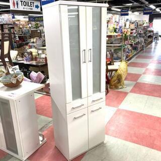 中古 店舗近郊送料格安 幅60cm 2枚扉食器棚 カップボード ...