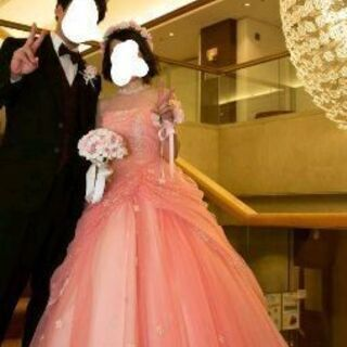 結婚式 カラードレス ウェディングドレス ピンク