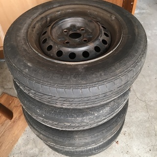155/80 R13 スチールホイル ホイルカバー タイヤ