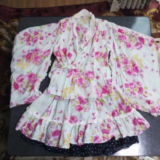 女の子 浴衣 甚平(スカート付き) 130サイズ
