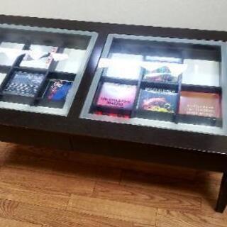 [お値引き相談お受けします✨]ガラス板がおしゃれな木製ローテーブ...