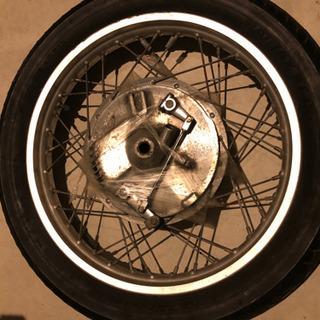 SR400 フロントドラムブレーキ ホイール タイヤ