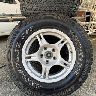 値下げ!215/75/15  5.5J 背面タイヤ付き5本セット...