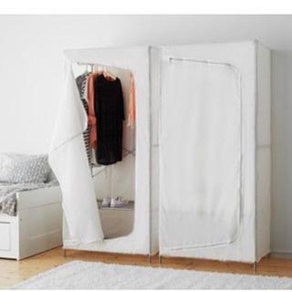 IKEA ワードローブ ホワイト2つセット売り