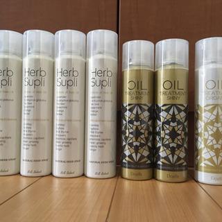 ヘアスプレー、オイルトリートメント、髪用化粧水
