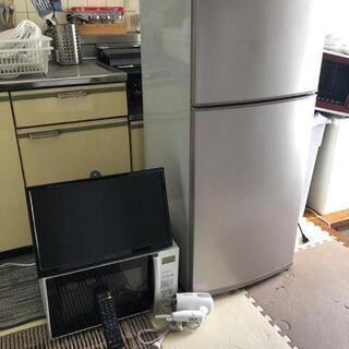 ②家電4点セット 壁掛けテレビ、冷蔵庫、レンジ 、ドライヤー激安