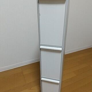 プラスチックケース 縦長 3段 H88cm×D44.5cm×W1...