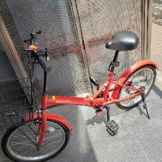 決まりました。ギア付き 折り畳み自転車