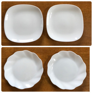 フランス製強化ガラス皿4枚組