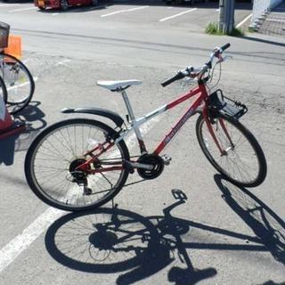 自転車 26インチ ブリヂストン 切替付き 赤 ペイペイ対…