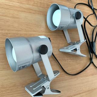 『照明』ELPA クリップライト 40W ショート シルバ…