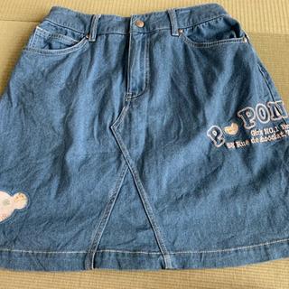 【美品】ポンポネット デニム スカート 160cm