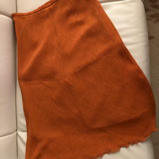 夏用スカート オレンジ系