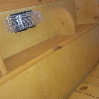 只今、商談中!!二段ベッド 木製 宮付き 照明 コンセント - 家具