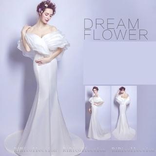 値下げしました!★新品・未使用★ウェディングマーメイドドレス ホワイト