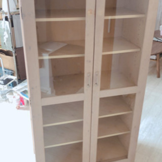 【ワンコイン】✨アンティーク木製食器棚✨