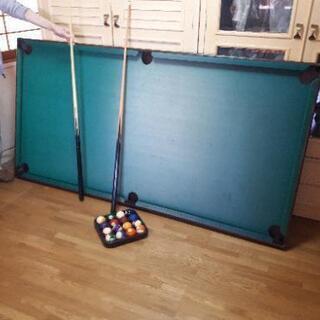 家庭用ビリヤード台(裏返せば卓球台に)
