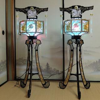 回転灯籠 2台 1対 お盆飾り 仏具 中古