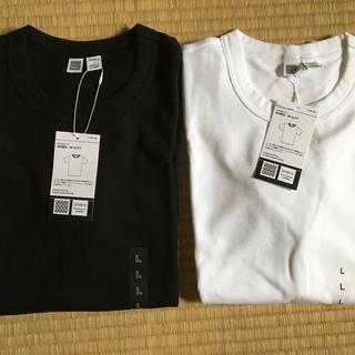 【新品未使用】ユニクロU Tシャツ 女性 Lサイズ 黒・白2枚組