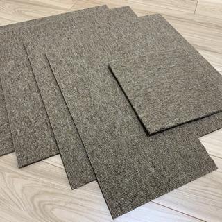 未使用タイルカーペット 50×50 3枚+切れ端 くるみ色