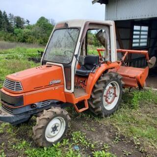 クボタX-24 24馬力トラクターロータリー付き