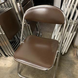 8脚セット!美品 折り畳み パイプイス 椅子 事務用 - 家具