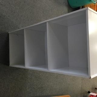 三段ボックス 白