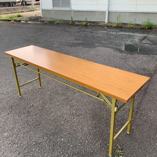 折り畳み 長机 長テーブル ミーティングテーブル 幅180 奥4...