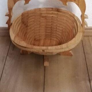 木製 フルーツバスケット イルカ