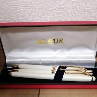 ALBUSペンセット★万年筆 ボールペン シャープペンシル 3本...