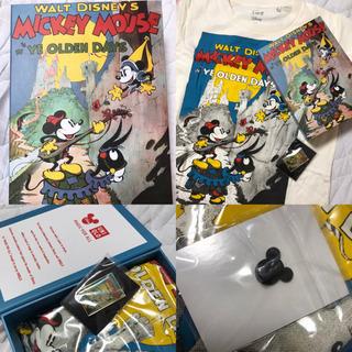 ②新品 レディースS ディズニー ミニーマウス Tシャツ ピンバ...