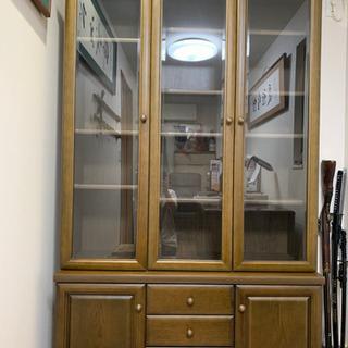 アンティーク 書棚 本棚 ガラス戸 飾り棚 食器棚 書斎