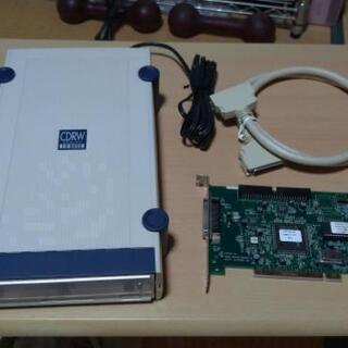 外付けDVD-RWドライブ+SCSIカード