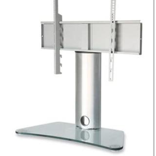 【美品】高さ調節可能 ロータイプテレビスタンド シルバー