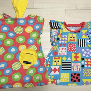 子供服 90 ビッツ 2枚セット 女の子 ワンピース チュニック - 名古屋市