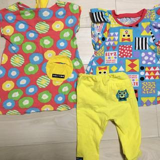 子供服 90 ビッツ 2枚セット 女の子 ワンピース チュニック - 子供用品