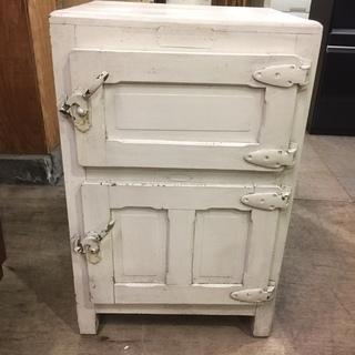 昭和レトロ家具木製冷蔵庫 アンティーク